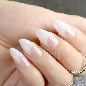 NWT french manicure with sparkle nails